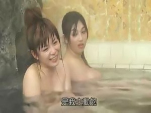 Japanese movie with these babes bathing and getting ready for some fun