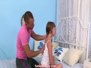 Incredibly cute teen brunette f ... free