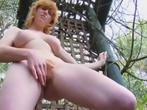 REAL REDHEAD JANET BIG PINK TITS HAIRY RED BUSH