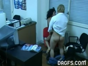 Latin office fuck caught by hid ... free