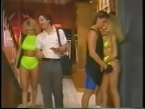 Several of the porn greats of the 80's like Peter North heat up the screen