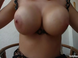 Shelby is just common next door amateur with giant big boobs, but give her...