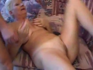 Nice looking mature German lady gets down with three guys.