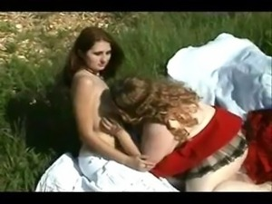 BBW Red Riding Hood Meets The She Wolf Meets The Woodswoman In this Three way...