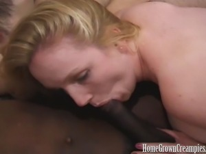 HomeGrownCreampies dirty blonde Kitty gets into an interracial gangbang that...