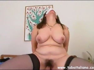 Italian Mature Couple Big Tits