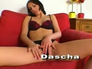 Sexy Dascha double penetrated and jizzed