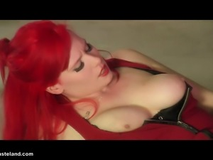 A Dom and FemDom punishes a female slave!