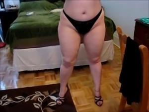 chubby  mature training anal by husband