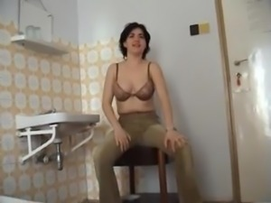 Melinda filmed for the first time having sex