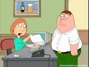 FamilyGuy sex video: Peter fucks Loise in Office