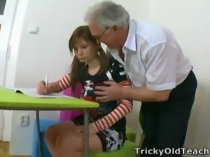 Fat Old Professor Fucking A Perky Pigtail Coed