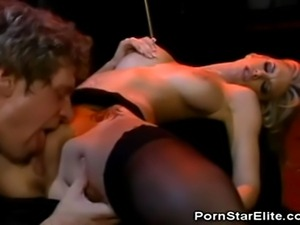 We have the lovely stockinged Brooke Banner in this clip as she takes on her...