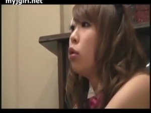 Japanese Girl In A Maid Outfit Gets Fucked And Cummed On
