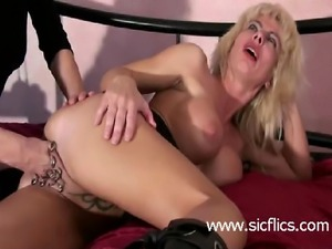Extreme amateur whore with a huge heavily pierced pussy is fisted hard and...