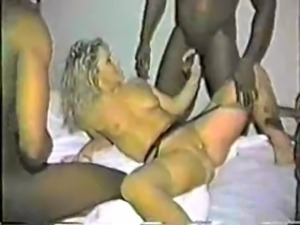 Slut wife and 3 black guys.