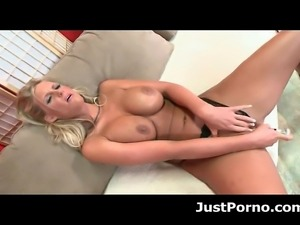 Slutty big tit porn star Phoenix Marie loves fucking her ass with dildos.