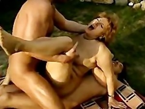 German Mature Takes 2 Cock In Ass Troia german ggg spritzen goo girls