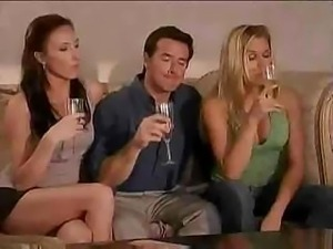 Super cool swinger party starts right after a couple of wine glasses