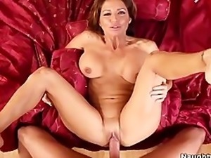 Redhead MILF Tara Holiday Rides Cock Point Of View