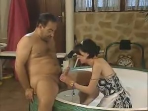 Old Man Fucks His Maid !
