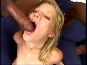 BRANDY STARZ in Black cock DP