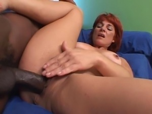 Insatiable redhead milf seduces younger guy