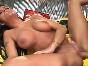 24 year old brunette from Canada with fake 34C tits and a 35 inch ass does...