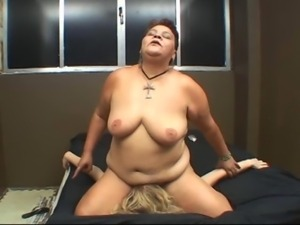 Mature Woman humiliates and subdues blonde girl