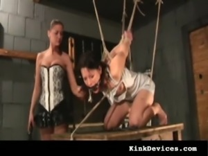 Two girls stuffed, whipped & crying free