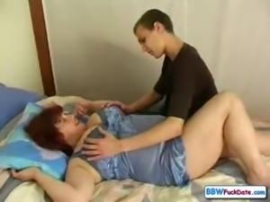 Russian BBW mom and son free