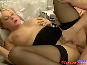 Euro MILF With Glasses and Girl Sucking Cock