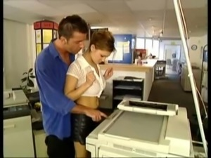 Sex at work, on the copy machine free