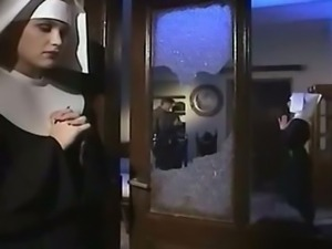 Horny nun enjoyed getting assfucked