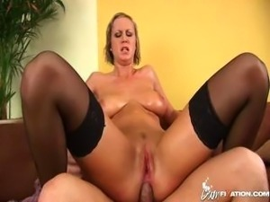Busty nurse fucked in the ass.