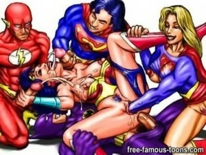 Famous cartoon superheroes orgy free