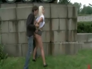 Blonde prostitute with large breasts free