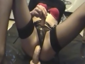 Anal Games in stockings - Gaping breakfast bitch