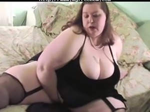 Sexy Ssbbw Plays And Tit Fucks A Big White Dong  BBW fat bbbw sbbw bbws bbw...