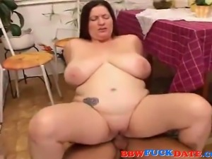 BBW rides and sucks boyfriends dick until he cums on her face and big tits