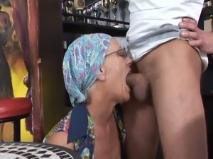 Grandma is a whore and needs young dick