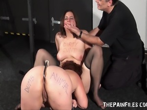 Two Amateur Sexslaves Used and Humiliated