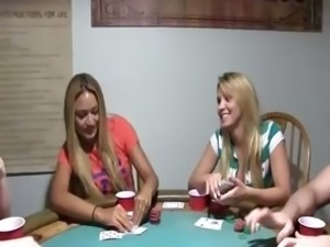 Young babysitters fucking on poker night