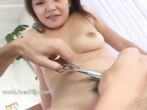 Fingers and dildos deep in her asian ass