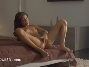 Wet orgasm of exotic pornstar fingering