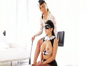 Bad waitress anally punished by his mistress