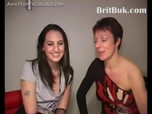 Two British Women Offer their Faces as Canvas for Cum Painting free