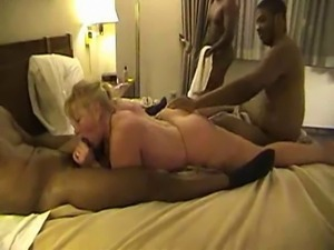 Very Sexy Mature Blonde Gets Fucked By Many Black Guys