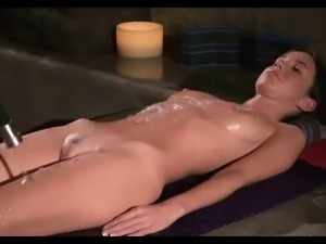 Screaming anal enema massage