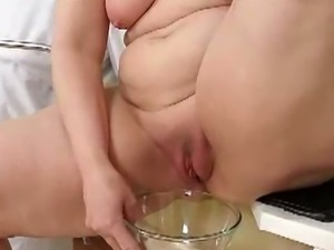 Mature lady's pussy checked up in a nasty way